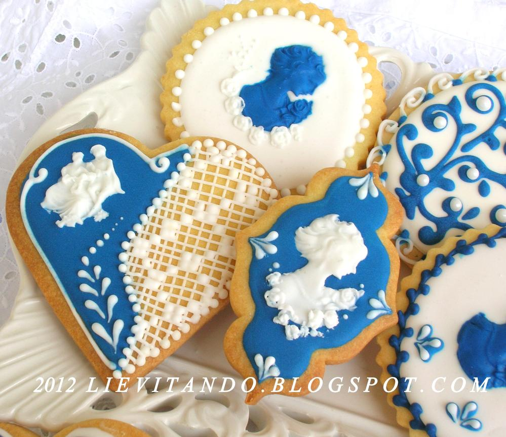 a blue and white wedding