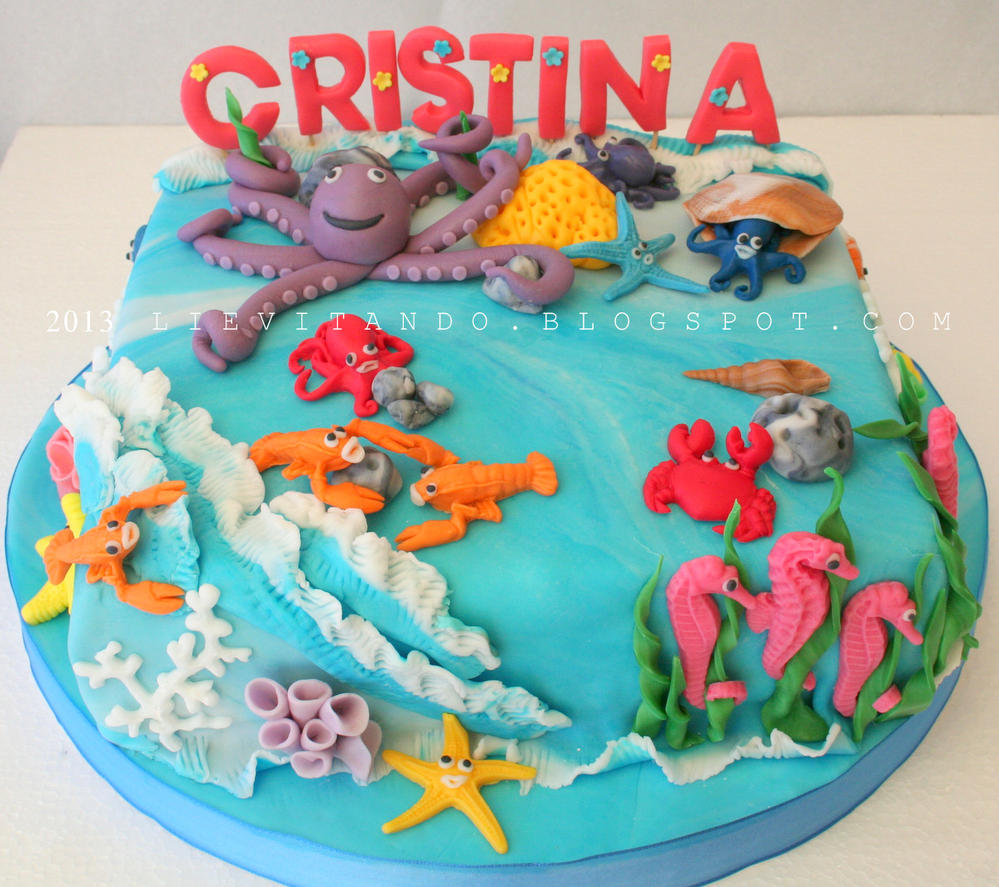 Ocean Animal Cake Toppers