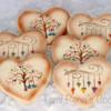 Stamped Valentine Cookies/Tami Rena's Cookies