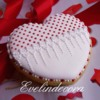 Heart cookie with edible glitter