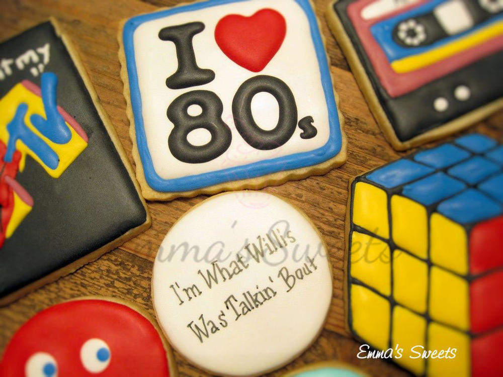80's Themed Cookie Set by Emma's Sweets