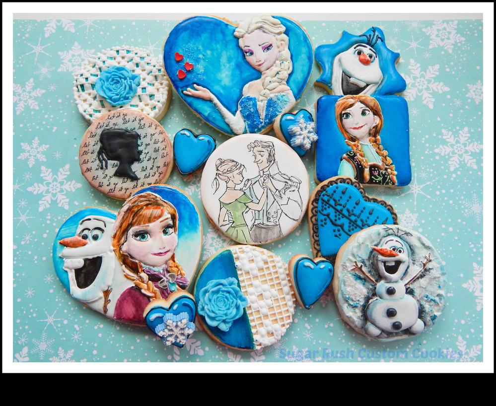 Disney Frozen Cookies by Sugar Rush Custom Cookies