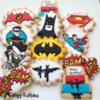 Vintage Batman, Robin, Superman and the Joker
