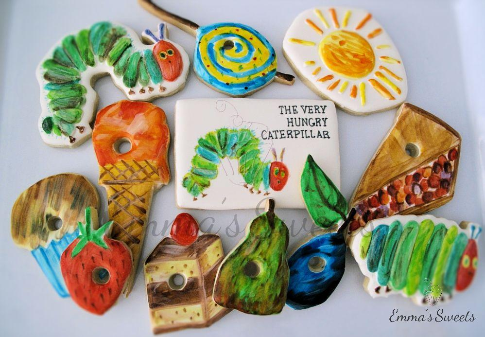 The Very Hungry Caterpillar Cookies By Emma's Sweets