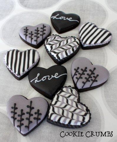 Black Valentine's Day Cookies