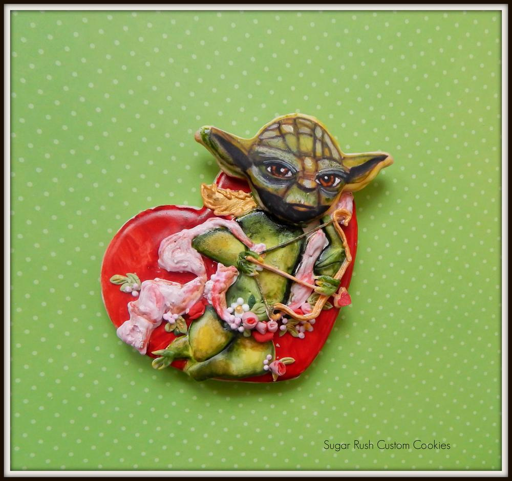 Yoda Star Wars Valentine Cookie