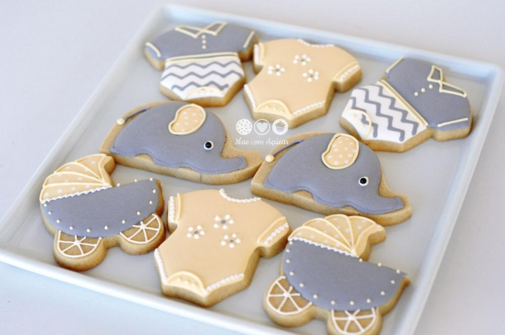 Captivating Elephant Cookies For Baby Shower