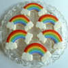 Rainbow Birthday Cookies