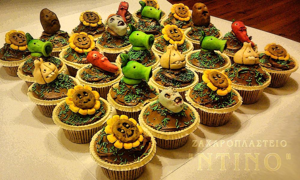 """cupcakes """"plants vs zombies"""""""