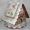 Gingerbread house with folk art motif