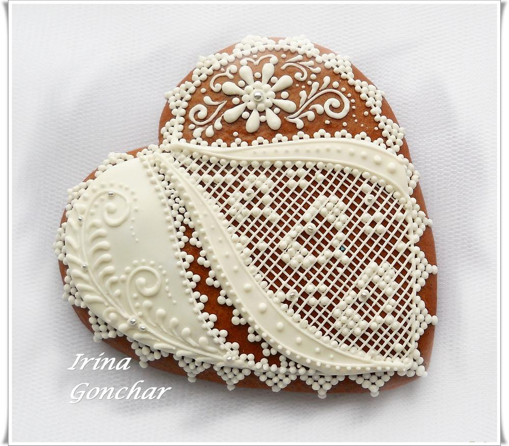 Heart with white lace
