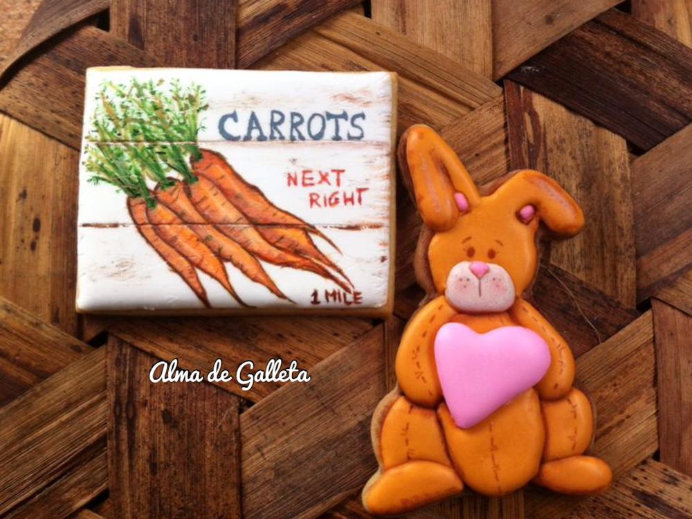 Bunny and Vintage Carrot Poster