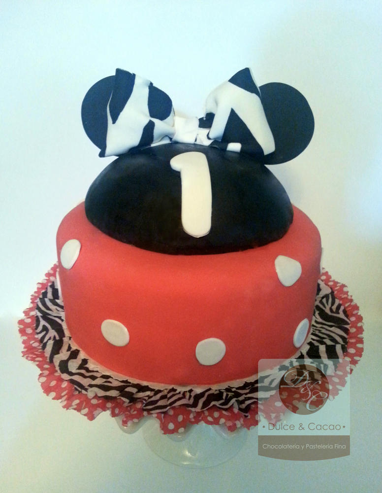 Amazing 1St Birthday Minnie Mouse Cake Cookie Connection Funny Birthday Cards Online Elaedamsfinfo