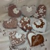 "Gingerbread hearts ""Monochrome"""