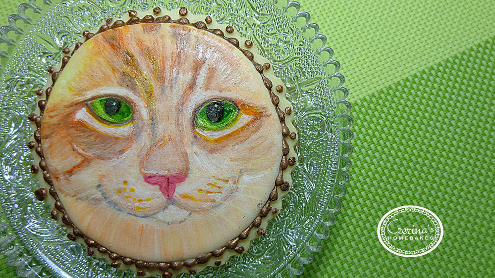 Cookie Cat Painting