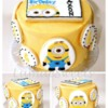 Minion Cookie-Cake