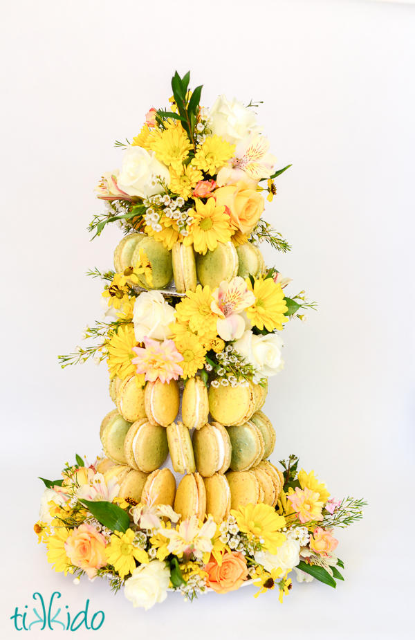 Bloom and Grow Macaron Tower