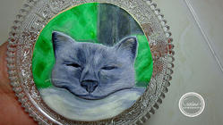 Hand painted Grey Cat