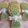 Mimosa bouquet cookies
