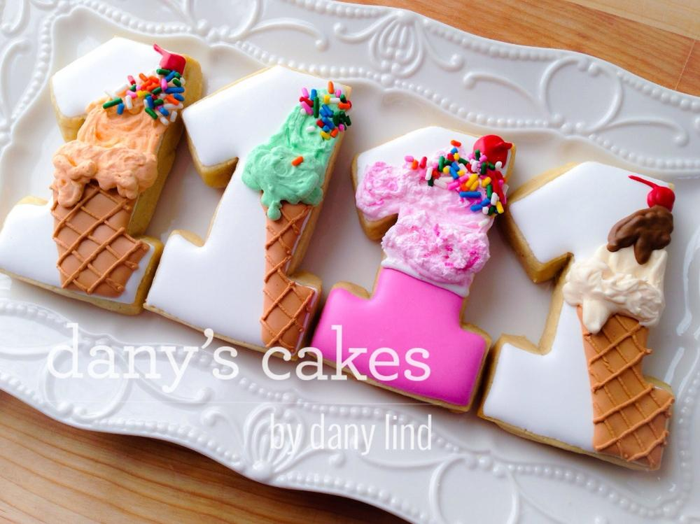 1st Birthday Ice Creams by Dany Lind