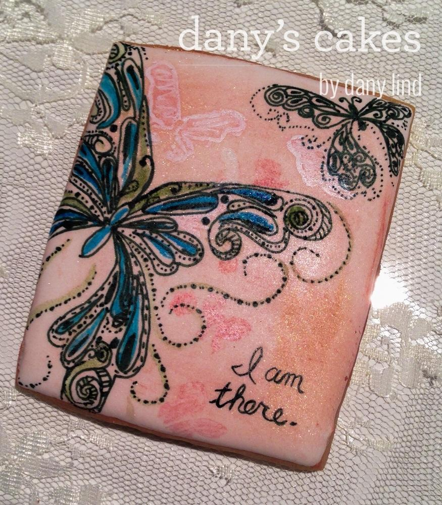 Painted butterfly by Dany's Cakes