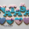 Name and hearts cookies