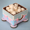 Footed Cookie Box with Window: Cookies and Photo by Julia M Usher