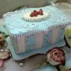 "Gingerbread box ""Blue shabby chic"""