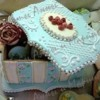 "Gingerbread box ""Blue shabby chic"" 2"