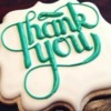 Thank You Typography Cookie