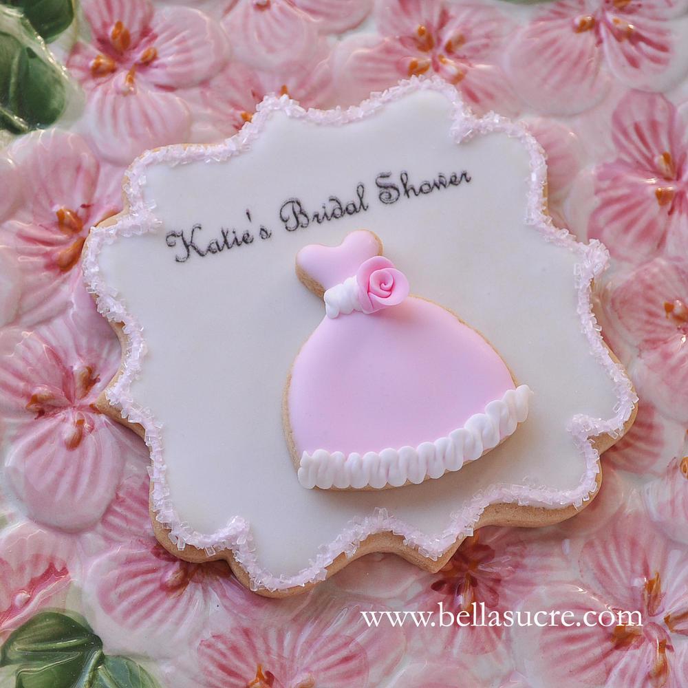 Eva Mini Gown Plaque Cookie