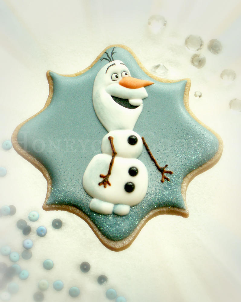 Olaf from Frozen Cookie