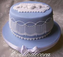 Royal icing light blue cake