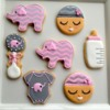Baby shower cookies by Asmita
