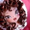 Brunette doll cookie