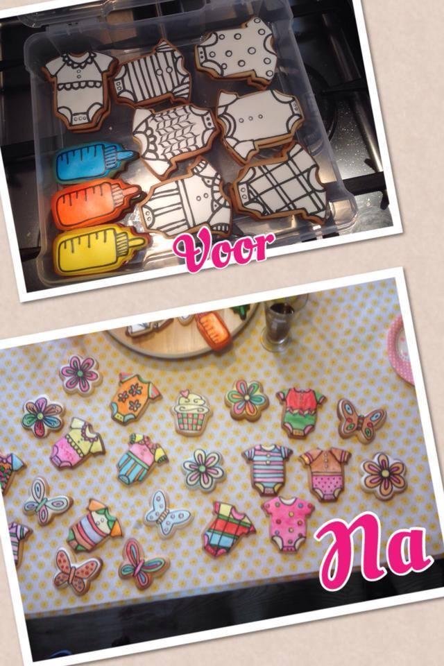 Baby Shower Coloring-in Cookies