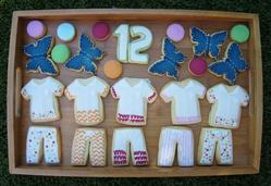 Full set of sleepover cookies for 12th Birthday