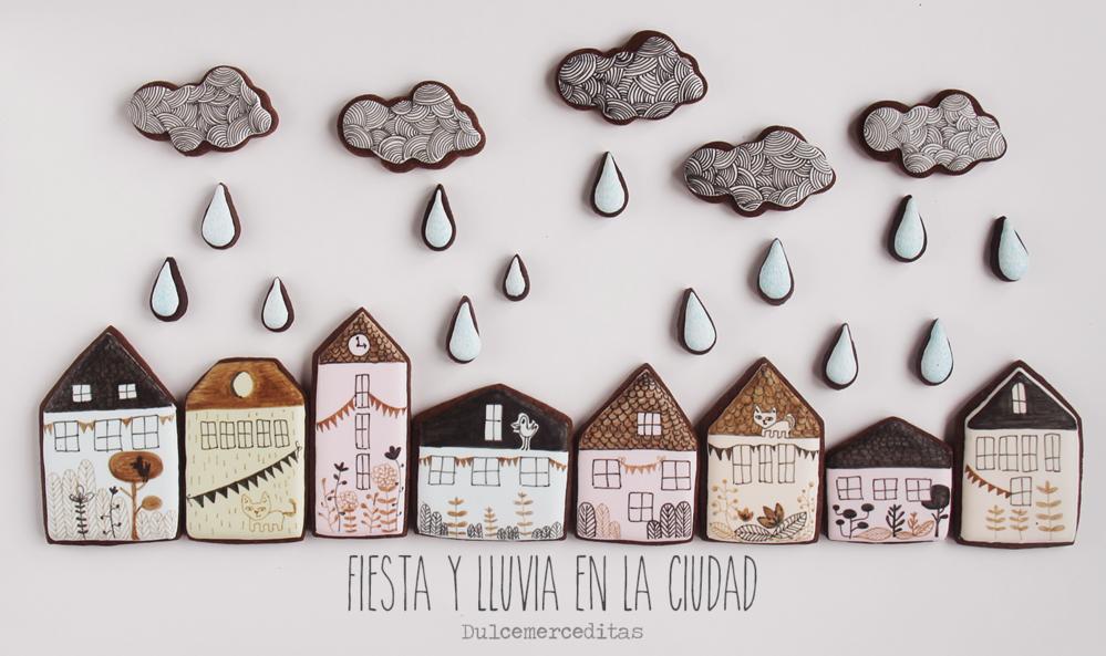 Fiesta y lluvia en la ciudad