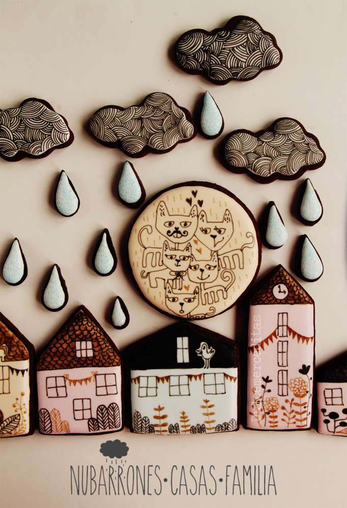 Nubarrones, casas, familia