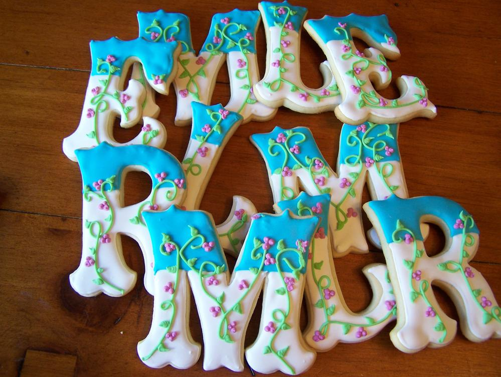 "4"" Letter Cookies"