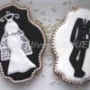 B&W wedding cookies