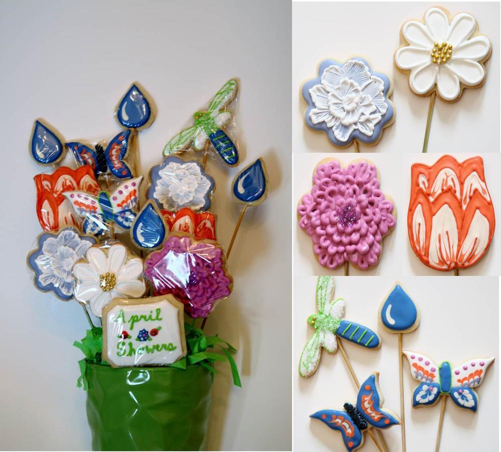 """""""April Showers"""" Cookie Bouquet"""