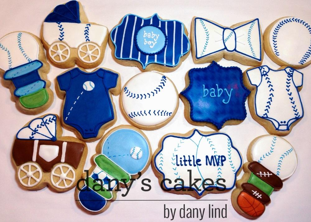 Baseball Baby Shower By Danys Cakes Cookie Connection