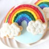 Rainbow Cookies without mixing colours
