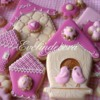 Bird house cookies