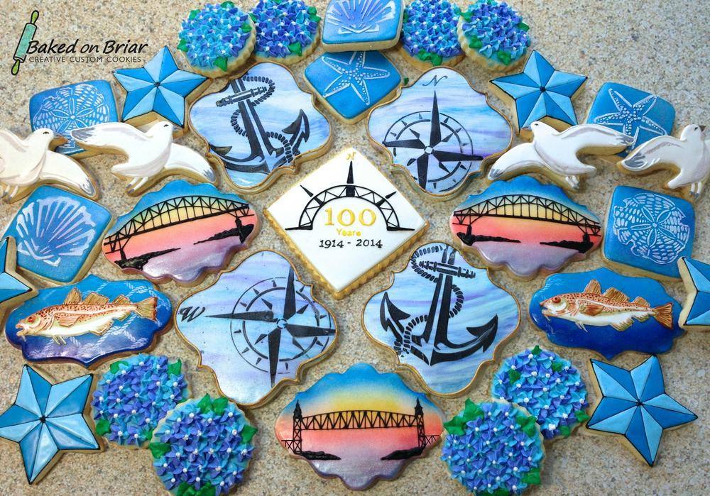 Cape Cod Canal centennial cookies