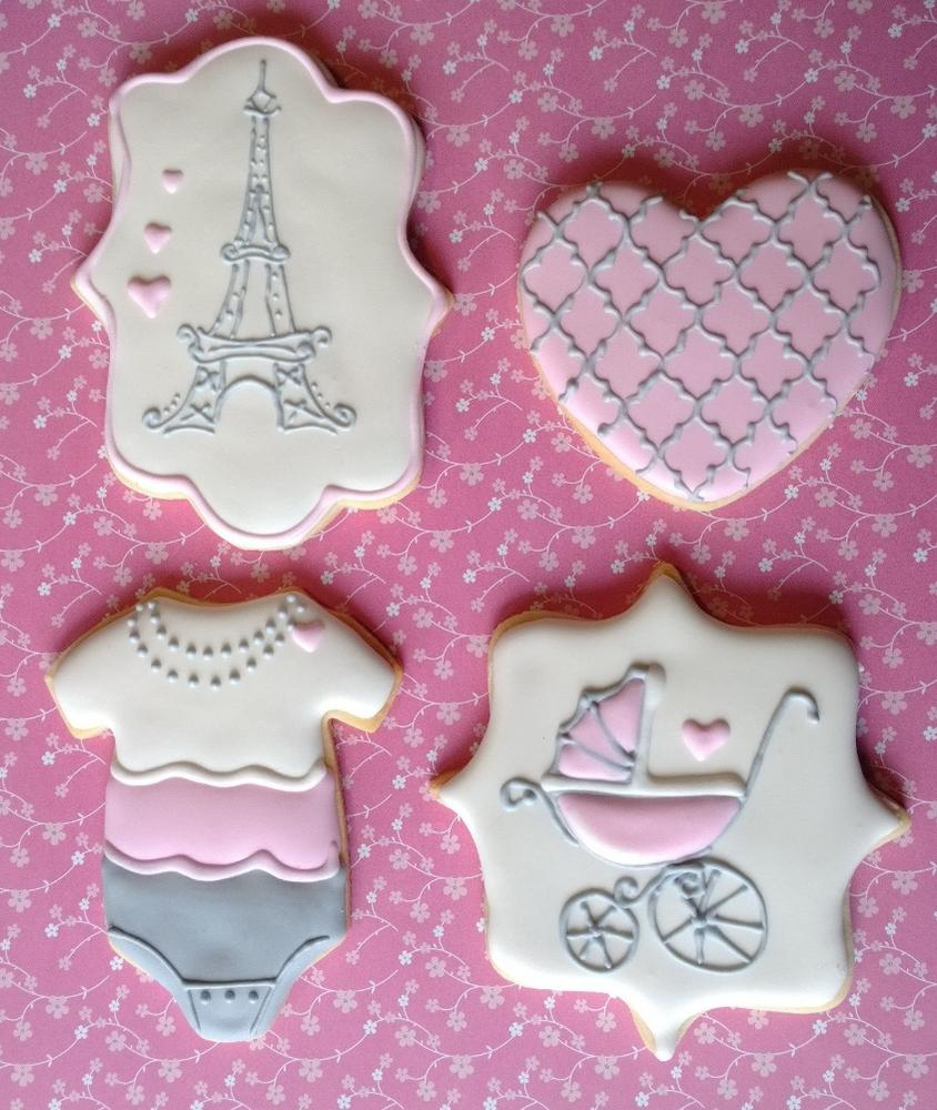 Paris Baby Shower Cookie Connection