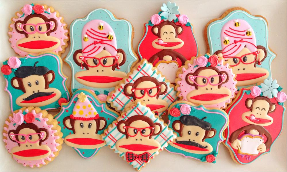 Julius The Monkey Paul Frank Inspired Cookies
