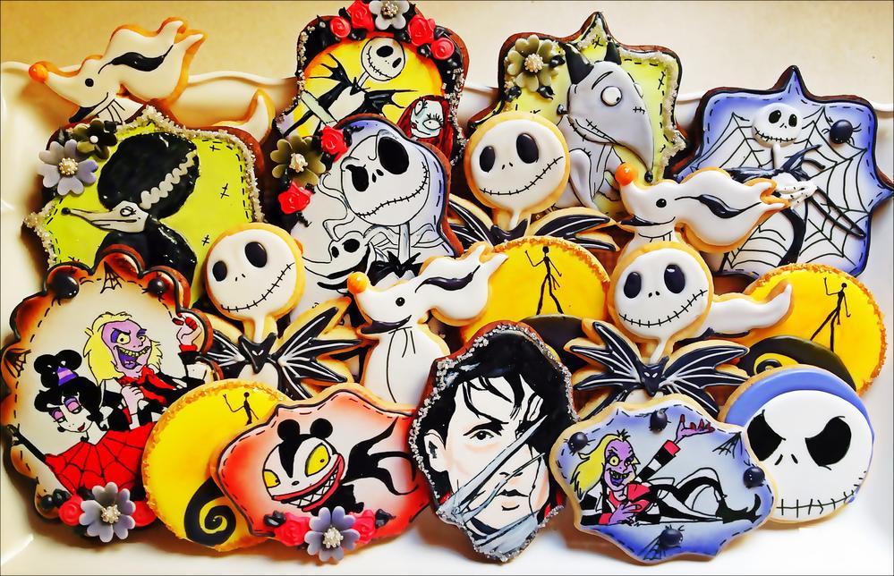 Tim Burton Inspired Cookies