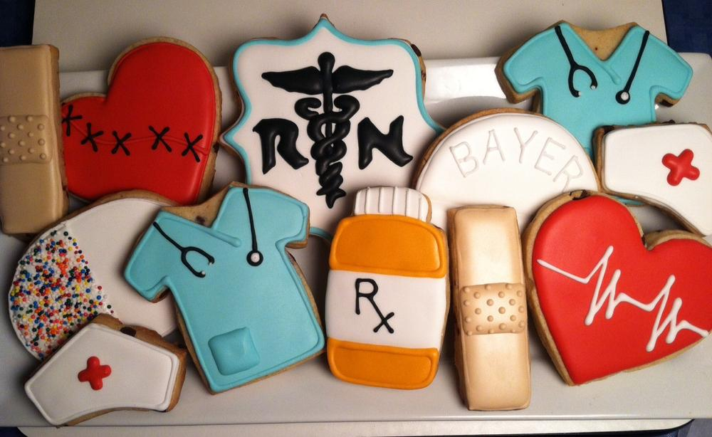 nursing graduation cookies